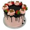 Tort cu căpșuni și ciocolată