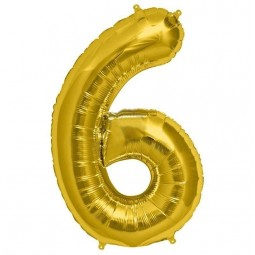 Balon cu heliu cifra 6