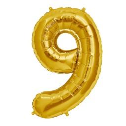 Balon cu heliu cifra 9