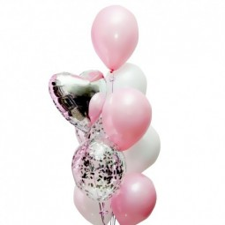 Compoziție din baloane cu heliu Nr.18