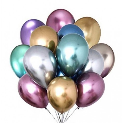 "Set 15 baloane  cu heliu ""Metalic"""