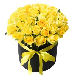 Box with Yellow Roses